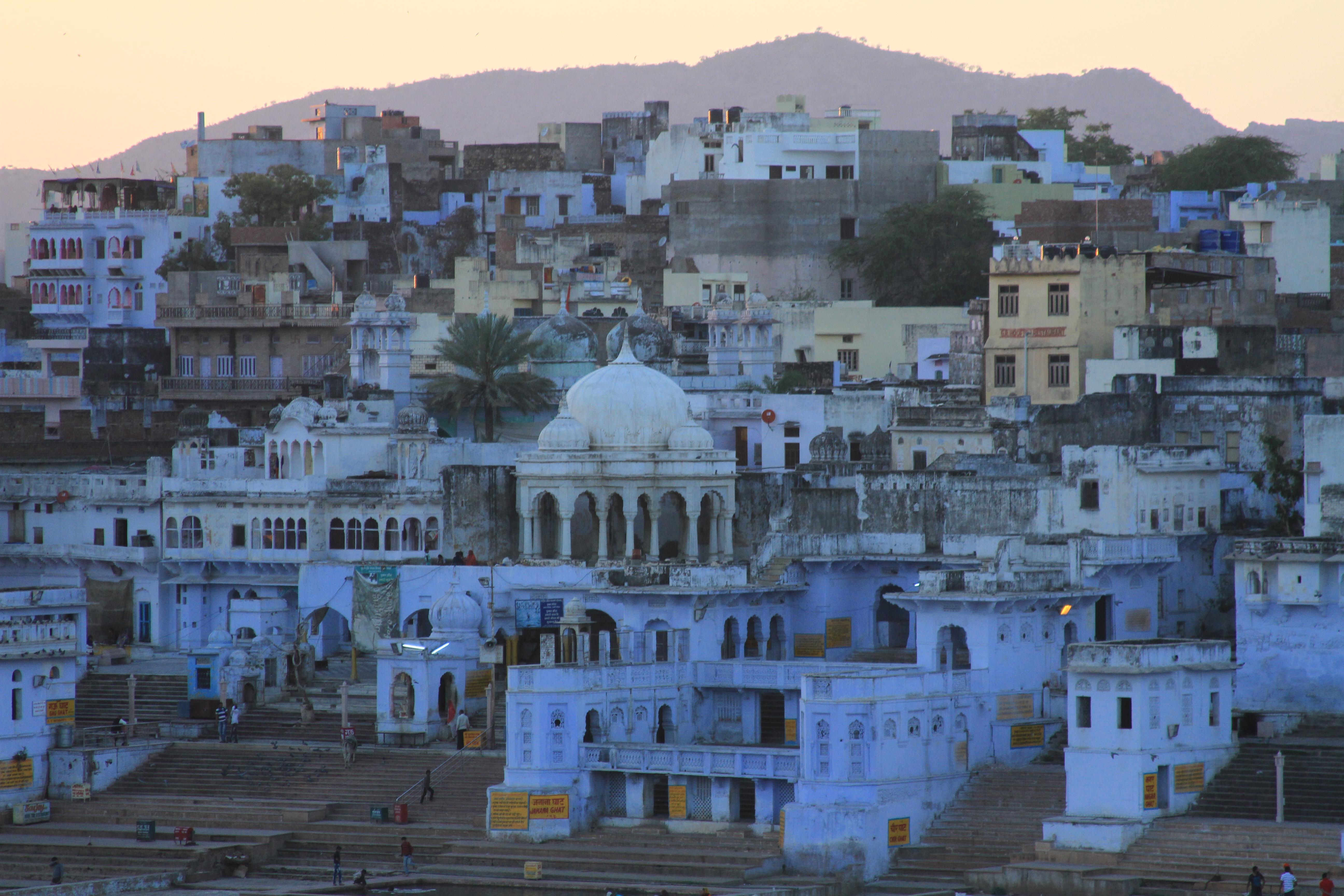 Pushkar at sunset.