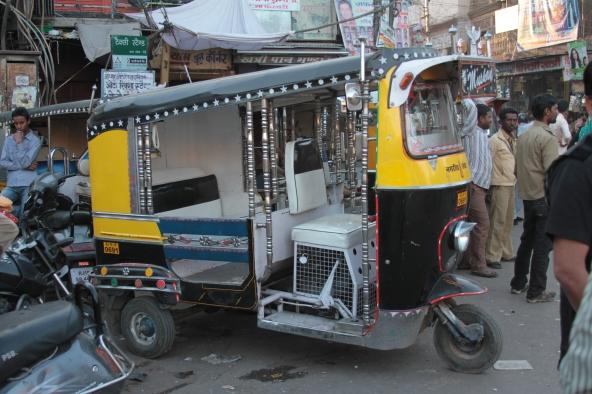 A tuk-tuk in India