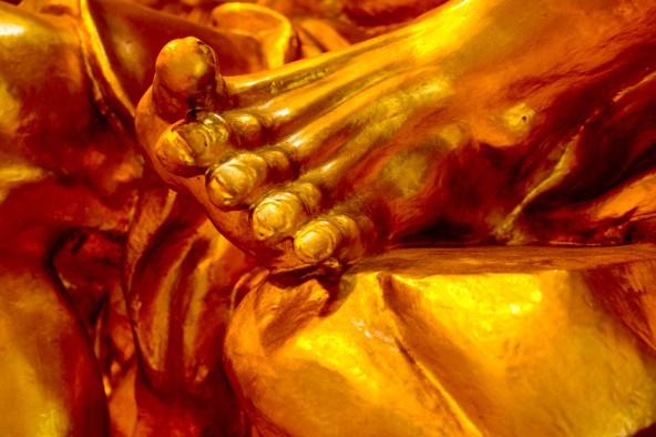 Detail of Buddha statue, Singapore