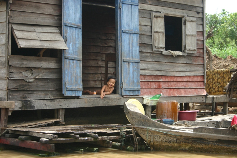 Floating Houseboat, Tonle' Sap Lake, Cambodia