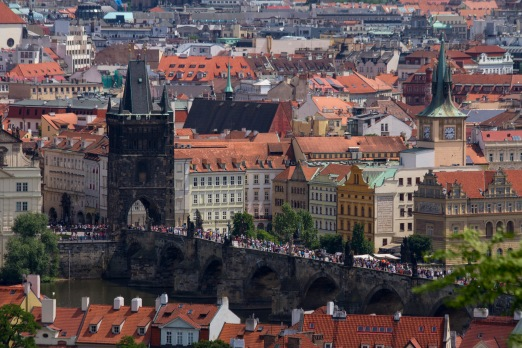 View of the Charles Bridge from the Prague Castle
