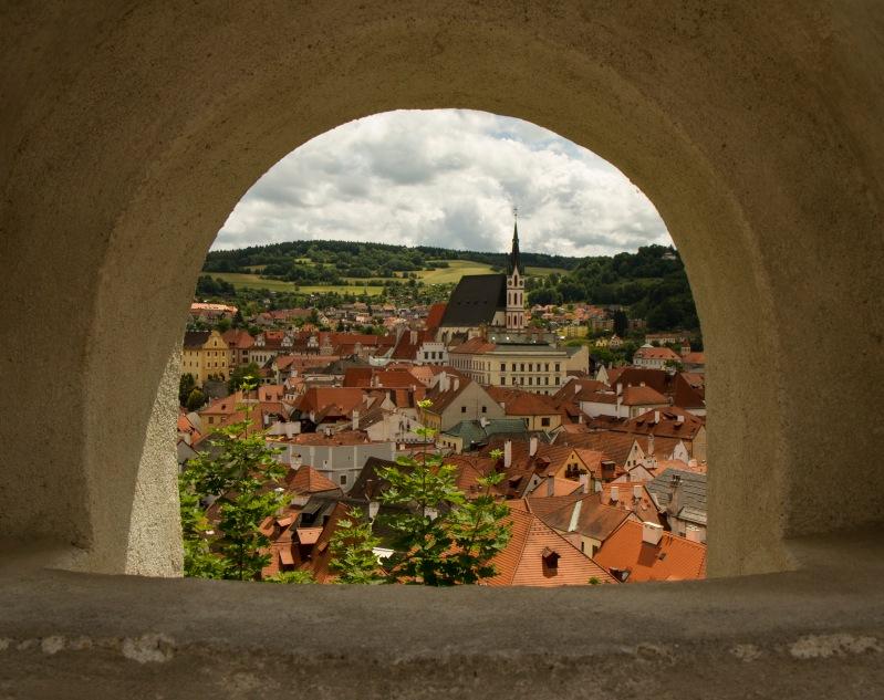 Český Krumlov from the upper castle.