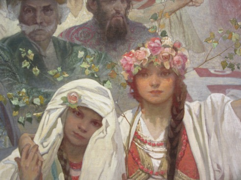 The Slave Epic, Alphonse Mucha. Detail from one of the twenty epic panels.