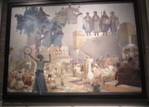 The Slav Epic, Panel 1, Introduction of the Slav Liturgy