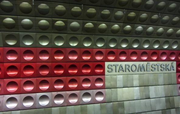 Prague Metro Station
