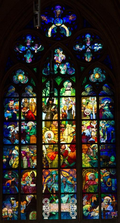 Alphonse Mucha window, St. Vitus Cathedral