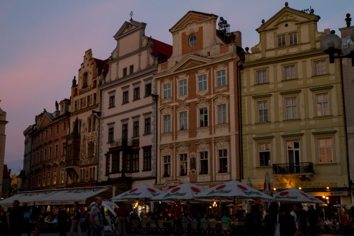 Dusk on Old Town Square
