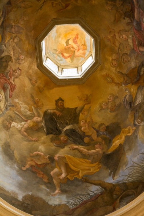 Ceiling in side chapel of St. George Church