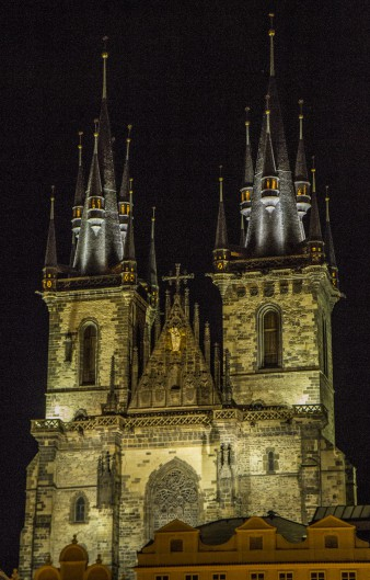 Tyn Church after Dark, Old Town Square