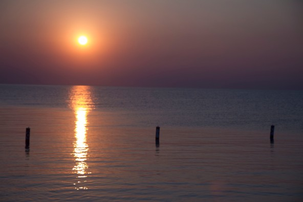 Sunset on Lake Michigan, Luddington, MI