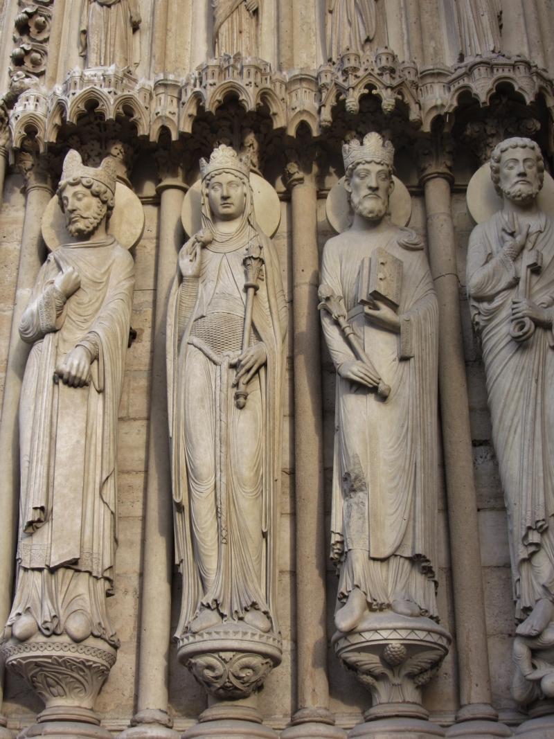 Statues on Exterior of Notre-Dame de Paris, Paris, France