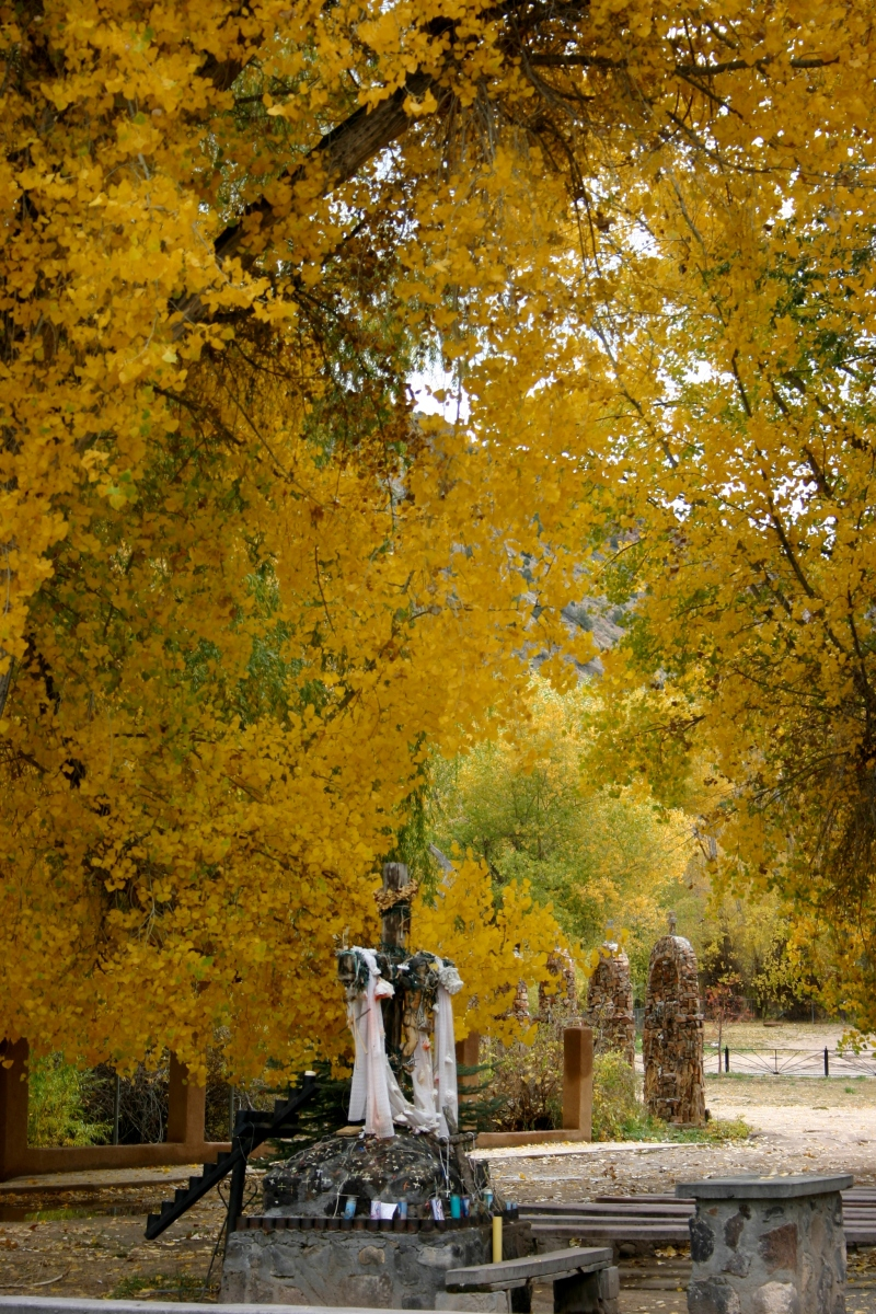 Grounds of the Chimayo Church, Chimayo, New Mexico
