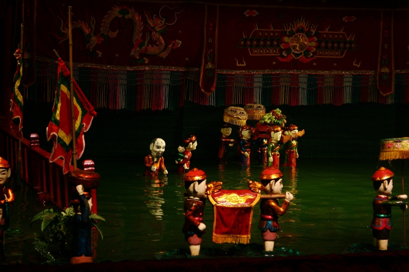 Red River Delta water puppet show in Hanoi, Vietnam