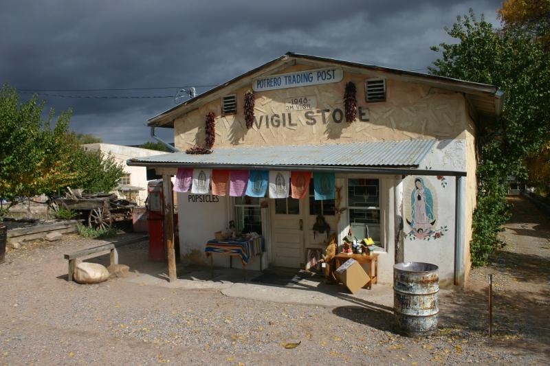 Livid Sky Over the Potrero Trading Post, New Mexico