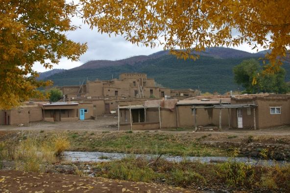 Fall at Taos Pueblo, New Mexico