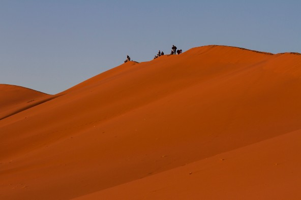 Sunrise at the Sossusvlei Dunes