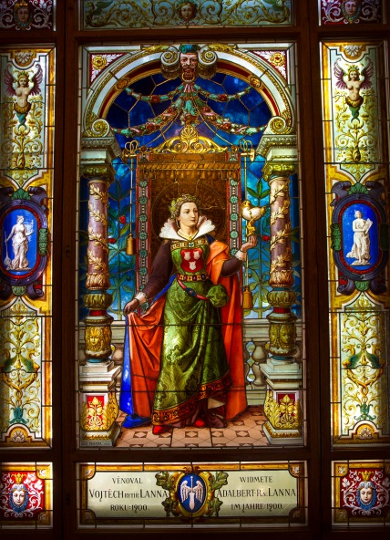 Stained Glass Window, Museum of Decorative Arts, Prague, Czech Republic