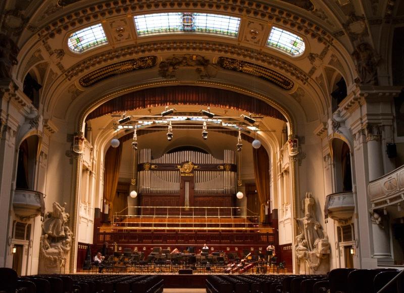 Interior, Smetana Hall, Prague, Czech Republic