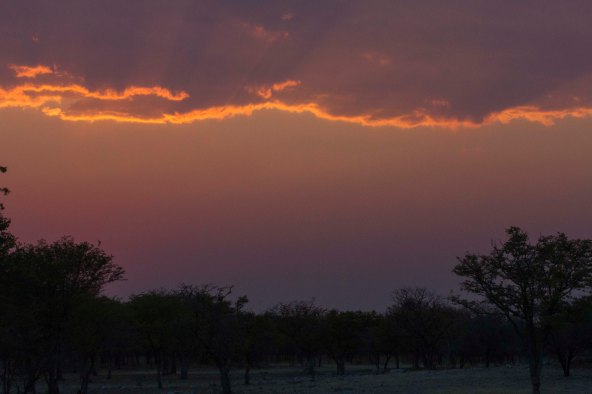 Sunrise at Anderssen Camp, Namibia