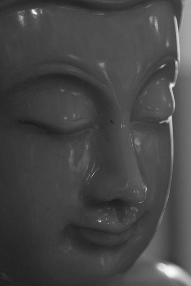 The face of Buddha.