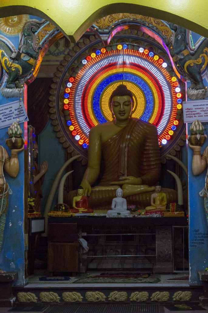 Electric Buddha at Kataragama