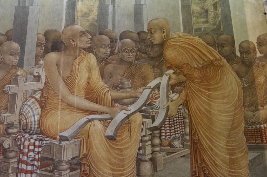 Wall painting at Kelanyia, near Colombo, Sri Lanka