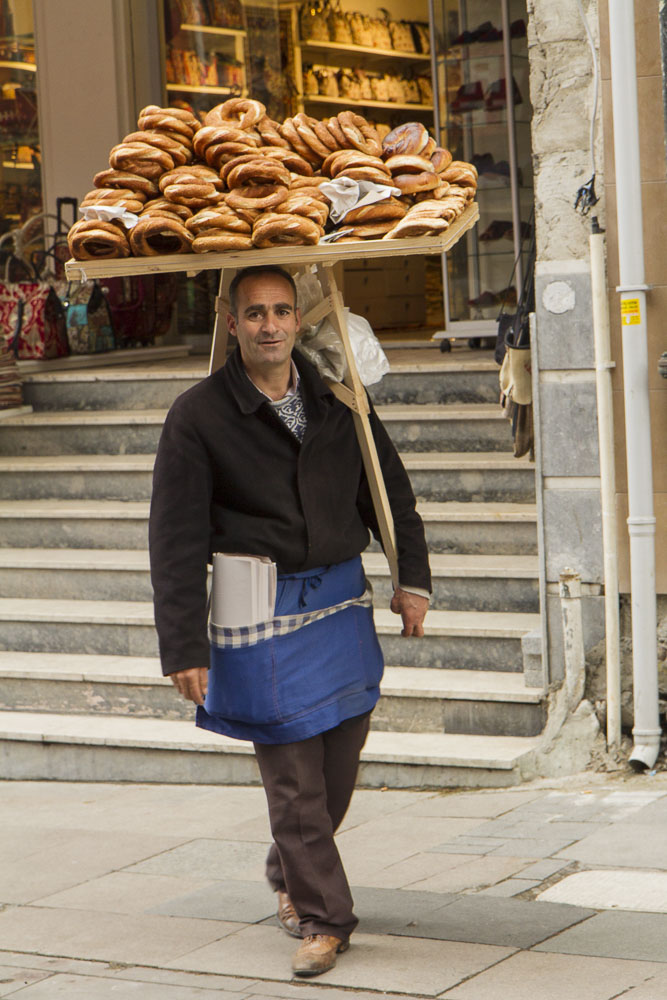 Bagel seller, Istanbul, Turkey