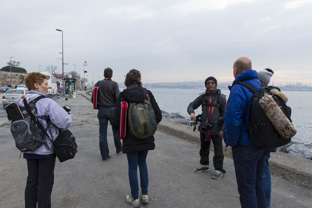 Istanbul at Dawn photography class walking long waterfront.