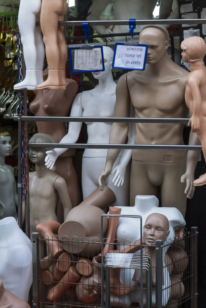 Spare parts, mannequin store, Istanbul, Turkey