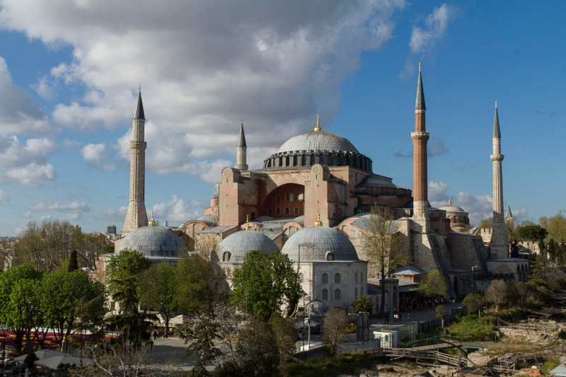 Hagia Sofia from a rooftop.