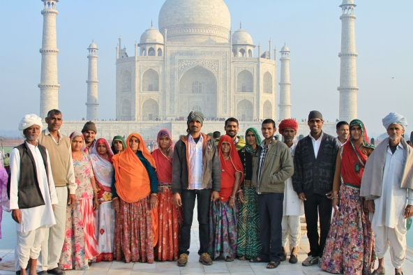 Family, The Taj Mahal, Agra, India