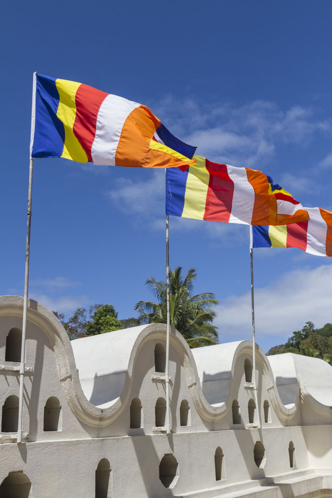 Buddhist Flags at the Temple of the Tooth, Kandy, Sri Lanka