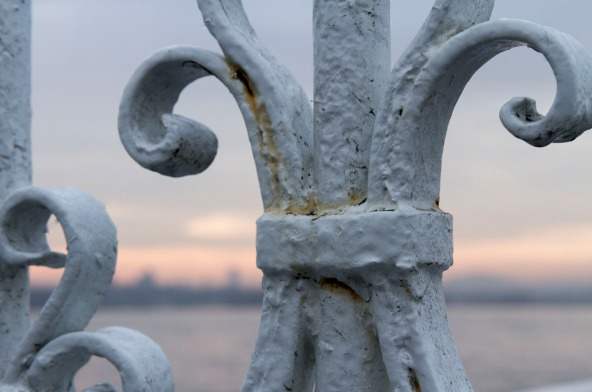 Detail of dock gate along the Golden Horn, Istanbul, Turkey