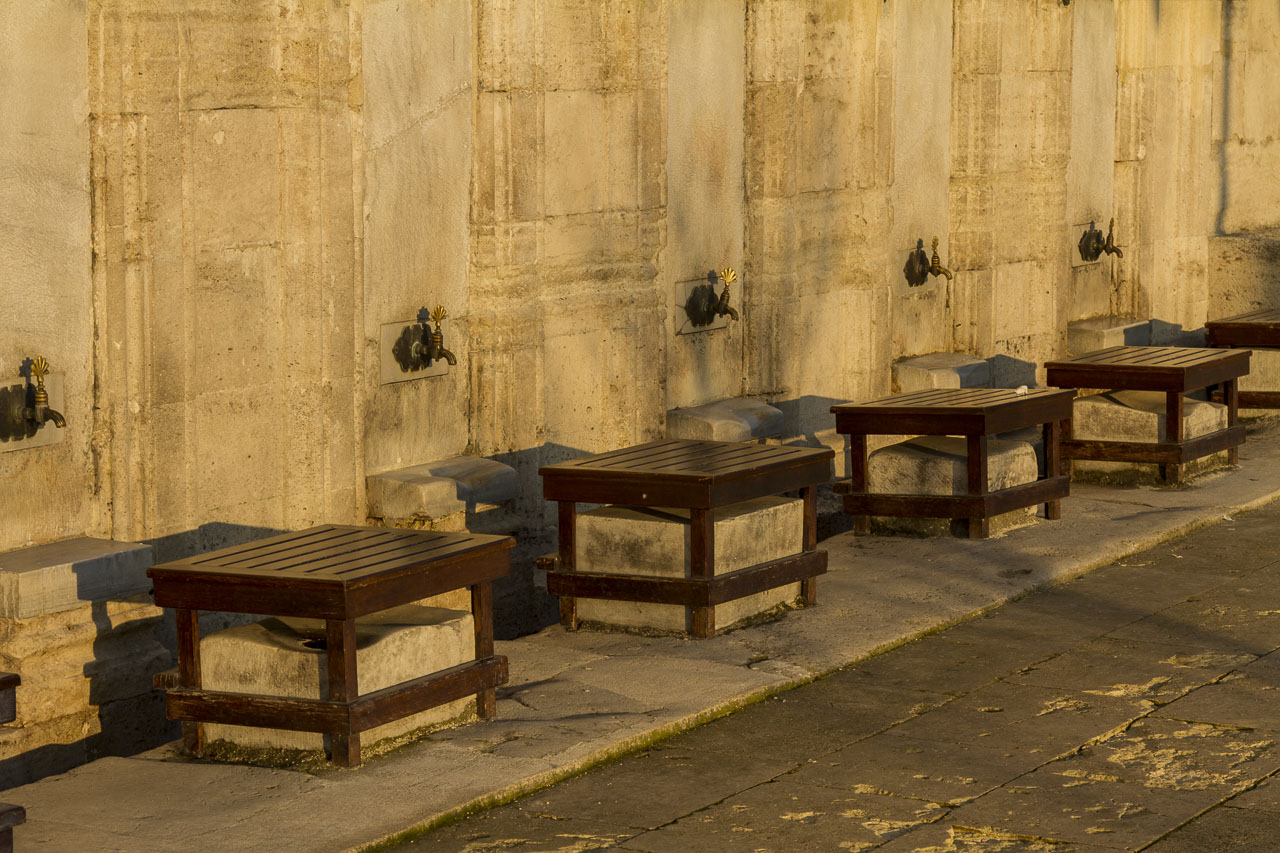 Suleymaniye Mosque Foot Washing Stations, Istanbul, Turkey