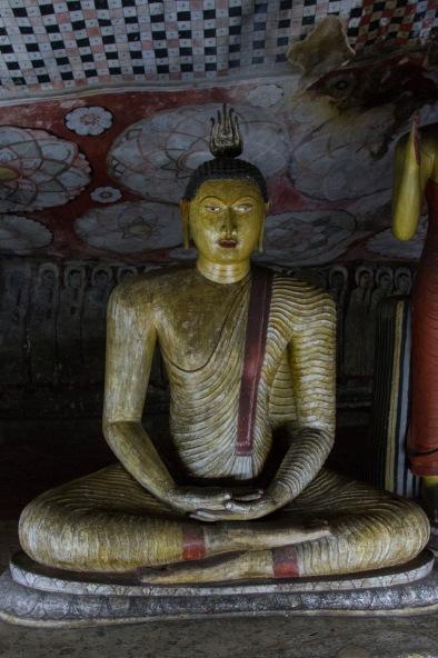 Sitting Buddha, Dambulla Caves, Sri Lanka