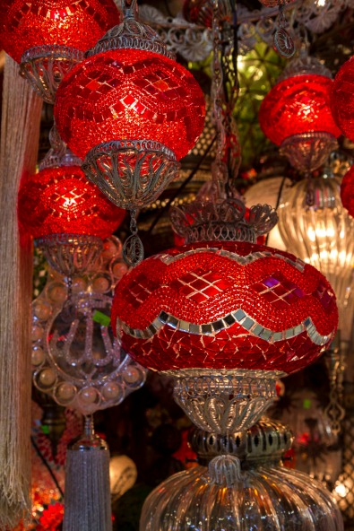 Gleaming Lamps in the Grand Bazaar, Istanbul, Turkey
