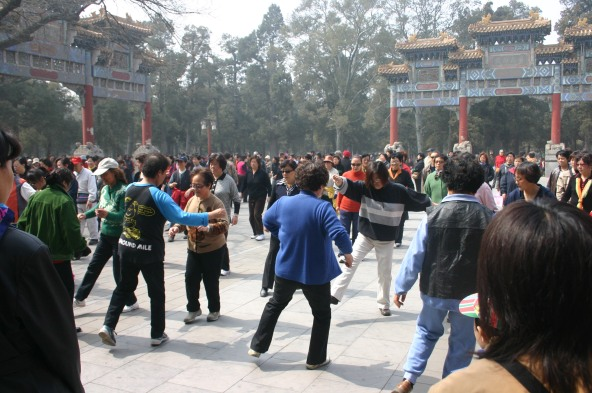 Sunday Afternoon Line Dancing, Beihai Park, Beijing