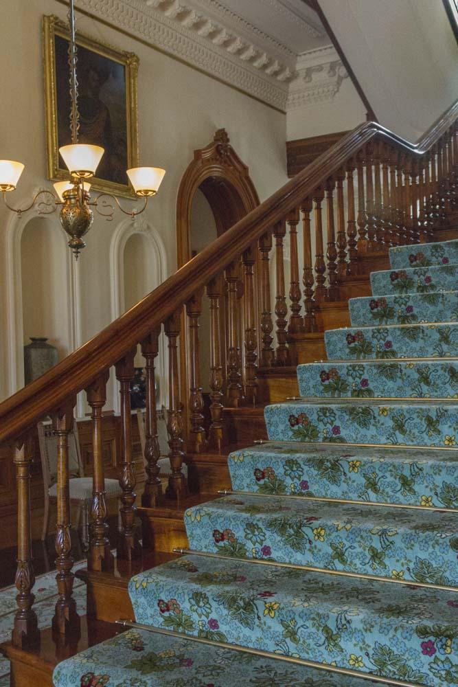 Staircase, Iolani Palace, Honolulu, Oahu, Hawaii