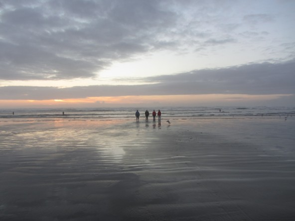 Cadet Blue Sunset, Seaside Oregon, USA