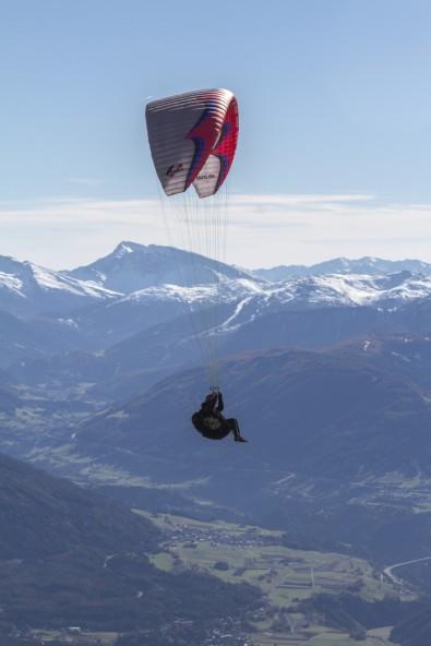 Paraglider over Innsbruck, Austria