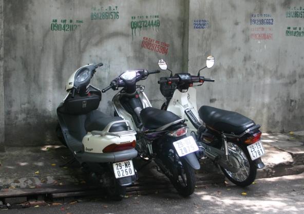Street parking, Hanoi, Vietnam