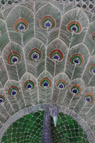 Tile decoration in the City Palace, Udipur, India
