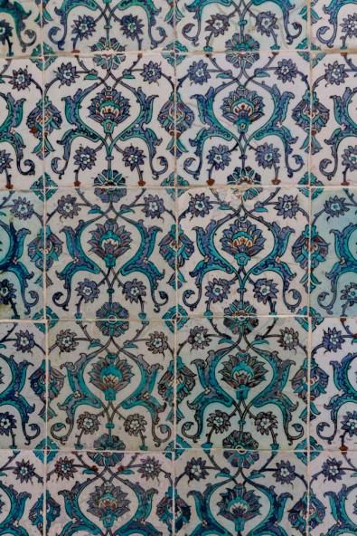 Wall Tiles, Harem, Topkapi Palace, Istanbul, Turkey