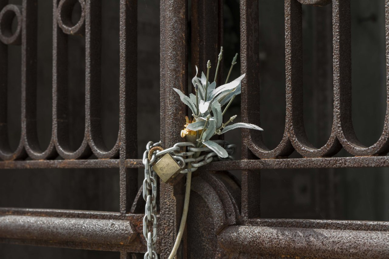 Locked Crypt, St. Michael's Cemetery, Venice, Italy