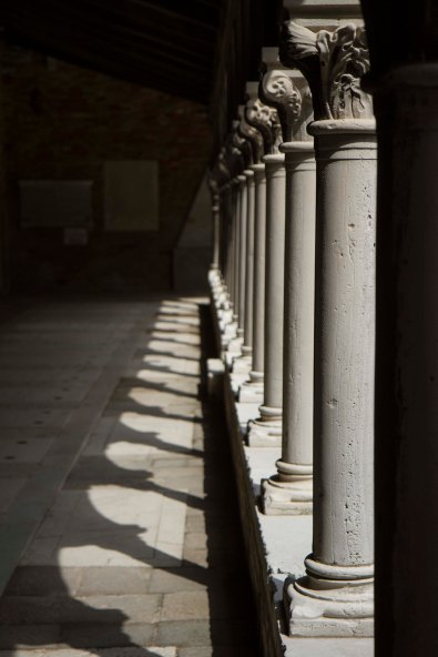 Courtyard Colonnade, St. Micheal's Cemetery, Venice, Italy