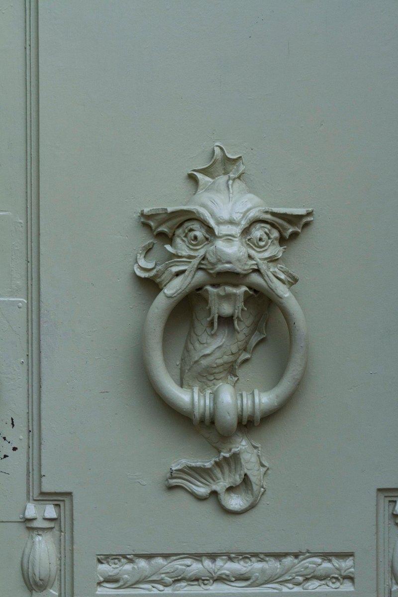 Art Nouveau Door knocker, Brno, Czech  Republic