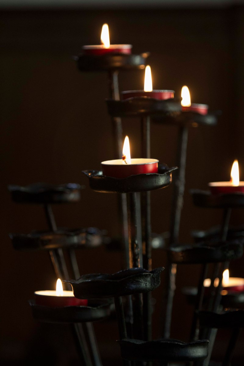 Candles, St. Barbara's Chapel, Burano, Italy