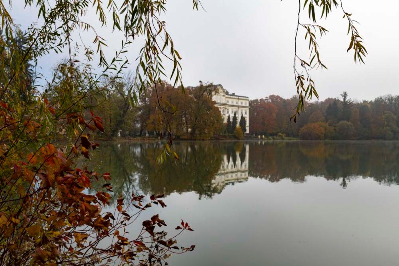 Leopoldskron Palace: the facade facing the lake represented the von Trapp residence in the Sound of Music