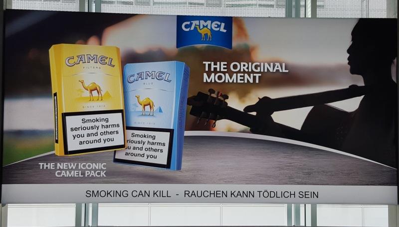 Cigarette Ad in Munich Airpot