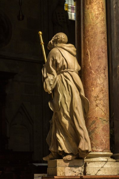 Striding Saint in the Interior of St. Stephen's Cathedral,  Vienna, Austria